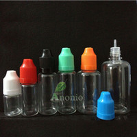 Wholesale Needle bottle PET PE ML ml ML ML ML ML Plastic Dropper Bottle Empty E Liquid Bottle Oil Bottle Childrenproof Cap PS DHL