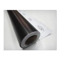 adhesive wrapping paper - 127 cm Waterproof DIY wall Sticker Carbon Fiber Vinyl Wrapping Film With Retail Packaging030004