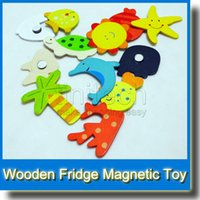magnetic alphabet - Wooden Magnetic Stickers Wooden Digital Fridge Magnets Refrigerator Magnet Sticker Kid s Gifts Toys Early Learning Toy
