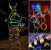 plastic ornament - Fashion LED Glow Bracelet Fluorescent bracelets Glow stick light ornaments glo sticks concert party flashing light emitting toys Free DHL