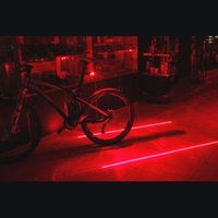 Wholesale 100 New and High Quality Laser Beam LED Cycling Bike Bicycle Rear Tail Safety Warning Flashing Light