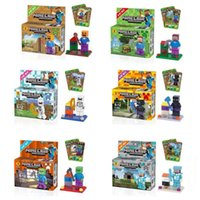 Wholesale DHL Educational Building Block Toys Minecraft Building Block Minecraft Animal Action Figures DIY Assembly Plastic Minecraft Block Toy