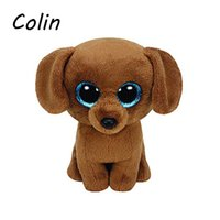 Wholesale Ty Beanie Boos Original Big Eyes Plush Toy Doll Child Birthday Brown Dog TY Baby cm WJ159