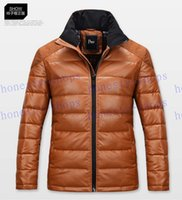 Fashion Brand Delicate Design Man Thick Warm Coats Plus Size M-3XL Good Quality Leather Patchwork Men Winter Fashion Down Jackets
