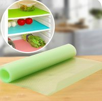 Wholesale 4 same color Can Be Cut Refrigerator Pad Antibacterial Antifouling Mildew Moisture Absorption Pad Mat Table