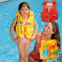 baby swimming float suit - New Baby Kid Toddler Child Children Infant Boy Girl Inflatable Float Pool Beach Life Jacket Swim Wear Vest Swimming Safety Aid Training Suit