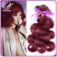 beauty wave red - 7A top grade Vip beauty hair cheap j virgin brazilian body wave hair extension wine red j hair burgundy weave inch g ps
