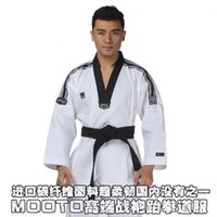 high end clothing - Taekwondo Uniform MOOTO Coach service Master suit Genuine goods Imported carbon fiber Small square High end adult clothes Gl