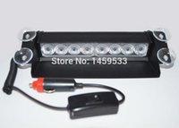 Headlight Switch Dashboard Warning Indicator Light Sourcing 8W LED AUTO CAR EMERGENCY LIGHT DASH WARNING STROBE FLASHING LAMPS WHITE 3 MODES
