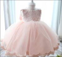 infant and toddler clothing - Infant Baby Christening Dresses For Actual Photo Lace Toddler Girls Party Princess Dress Full Month And Year Clothes Retail K366