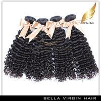 beaucoup de port naturel Couleur gratuit Remy Hair Extension Virgin Brazilian Curly Cheveux Weave 10-34 pouces grade 7A