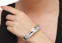 Wholesale stylish bracelets for women fashion jewelry bangle bracelet sterling silver Single Phoenix fine Dimensional relief Sweet