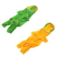 Wholesale Hot Selling Water proof Dog Raincoat Good Quality Rain Jacket Pet Rainwear for Large sized Dogs Pet Clothes Green Yellow order lt no track