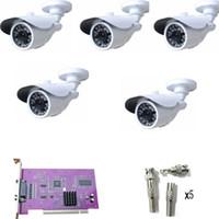al por mayor sony sistema 8ch-CCTV sistema de cámara 8CH CCTV DVR tarjeta de vídeo kit 480TVL SONY CCD Inicio Sistema NTSC