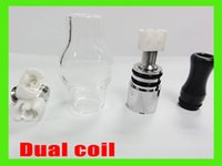 Cheap vaporizer globe Bulb ceramics dual coil atomizer pyrex glass tank Wax dry herb Clearomizer for eGo-t Battery ceramics dual coil VS AGO G5