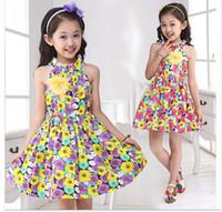 beautiful sundresses - HOT high quality Girls dress new spring summer children sundress broken beautiful princess little girl dresses