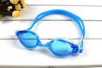 Wholesale 4 Colors PVC Waterproof Anti fog UVstop Swimming Goggles Glasses Adjustable Adult Children Unisex Coating Goggles Gift Earplugs