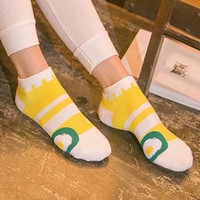 animal cake designs - Fashion Women Socks Summer Cute Casual Cake Egg Personality Cotton Boat Socks Designs New
