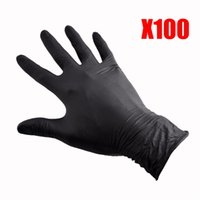 surgical gloves - 100x Surgical Tattoo Disposable Nitrile Gloves Puncture Resistant M Size Black EQC637