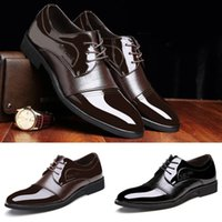 Wholesale High Quality Leather Men Shoes Cowhide Pointed Toe Fashion Alligator Patchwork Casual Business Oxford Shoes Size TA0074