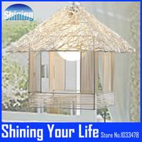 bamboo pendant lamp - Hot Sale Bamboo Pendant Warm House Rattan garden willow small house pendant light brief rustic rattan lamp pendant light