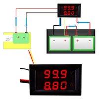 auto amp meter - Lowest profit x V A DC Digital Voltmeter Ammeter LED Amp Volt Meter For V V Car Auto Red Blue LED Display