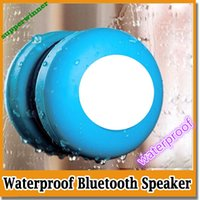 Wholesale Portable Waterproof Wireless Bluetooth Speaker Subwoofer Shower Car Handsfree Receive Call Music Suction Phone Mic DHL up