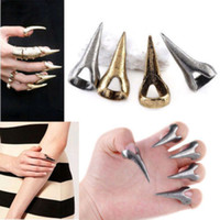 Cheap Fashion Jewelry Retro Punk Rock Gothic Talon Nail Finger Claw Spike Rings Band Rings Gothic Punk Vintage Claws Nail Rings Midi finger Ring
