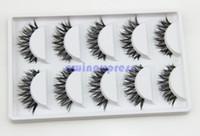 band eyelashes - 5pairs Thick Long Cross Party False eyelashes Black band fake eye lashes