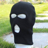 Wholesale Three Holes Cap Visor Hat CS Windproof Caps Warm Thick Horror Masks Drop Shipping PW0069
