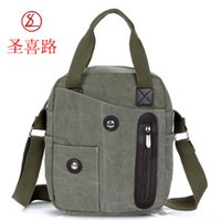 Wholesale 2014On sale New Pupular Men s Canvas Leather Bag Casual Style Messenger Bags Shoulder Bags For Travel Bags Fashion School Bag sport bag