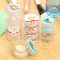 bath set cosmetic - pieces set Lovely Cartoon Empty Cosmetic Packaging Containers Cream Box Empty Cosmetic Jars Travel Bottle Set Bath Salt Jars