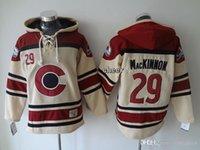 low price hoodies - Men s Colorado Avalanche mackinnon beige Hoodies Jersey Ice Hockey Jerseys Best Quality Low Price
