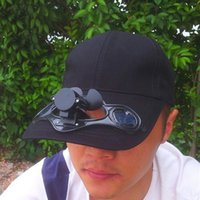 solar fan cap - Solar Power Hat Mini Air Fan Peak Solar Cap Sunhat for Outdoor Camping Cycling