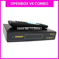 Wholesale 10pcs internet sharing DVB S2 T2 combo original openbox hd cccam iptv digital satellite receiver Openbox v8 combo