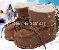 australian baby shoes - Australian sheep fur baby snow boots and year old baby boys and girls soft bottom anti slip toddler shoes in winter