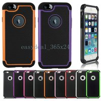 Wholesale Hybrid Cases Rugged Impact Rubber Matte Robot Silicon PC Hard Case Cover for iPhone Plus quot quot S S C Samsung Galaxy S4 S5