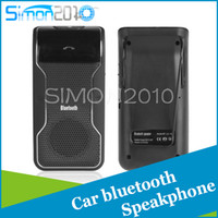 Wholesale Wireless Bluetooth Handsfree Car Kit with Sun Visor Clip holder Drive Talk Car Speakerphones For iPhone Galaxy LD158