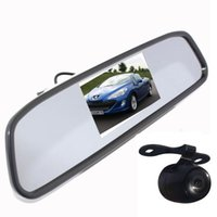 Wholesale 4 quot Mirror Monitor Rear View Kit Waterproof Reverse Car Dvr Backup Camera