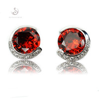 best rock classics - Rock The new listing Best Sellers Noble Generous Favourite MN864 Classic Red Cubic Zirconia Shinning Copper Rhodium Plated Fashion Earrings