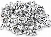 Wholesale 50g Cube Letters Acrylic Loose Beads Fashion Jewelry For Necklace Bracelets DIY BSB3 g