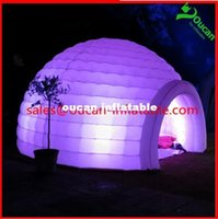 Wholesale Color changing LED lighted inflatable dome tent igloo tent LED inflatable tent with LED