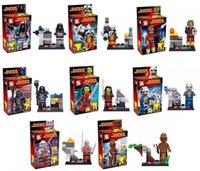 rocket - 8pcs set Guardians of the Galaxy Figures Rocket raccoon ronan camora star lord Groot Building Block DIY Bricks Toys Christmas Gift