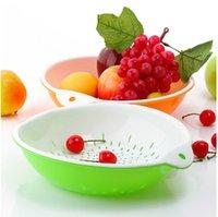 plastic basket - Double layer drip basket fashion fruit plate drain basket drip basket vegetables plate the dishui multi purpose basket