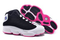 women footwear - black pink white Basketball shoes with logo Air shoes New Retro XIII Women s Basketball Sport Footwear Sneaker Trainers Shoes