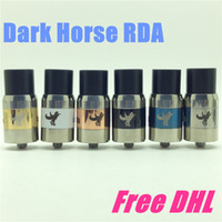 brass horse - Dark Horse RDA giftbox DHL rba clone Rebuildable Atomizer ss Brass Black copper mm for ego cigarette mod vs little boy plume veil