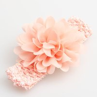 Wholesale 2015 multi color flower headband knit hairband girls Pearl bow headwrap lovely bow headwrap baby chiffon headwrap baby head wrap