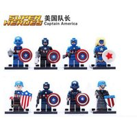 Wholesale Hot Sale Building Blocks Super Heroes The Avengers Captain America Action Figures Minifigures Bricks Kids Children Toys
