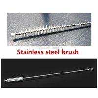 Wholesale stainless steel wire cleaning brush straws milk bottle cleaning brush