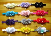 2T-3T america headbands - Europe and America Hot Sale Children s Hair Accessories Chiffon Flower Pearl Toddler Baby Headband Infant Photograph Props Hairband WD353